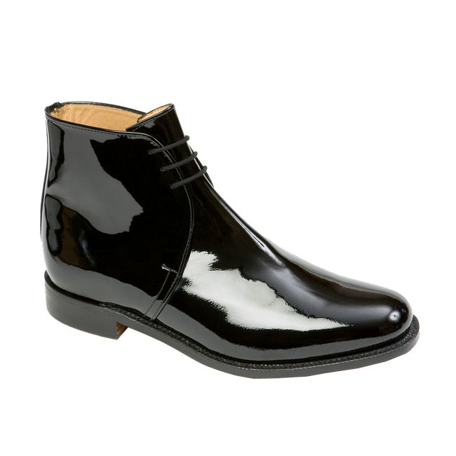 George boots patent leather genuine sanders