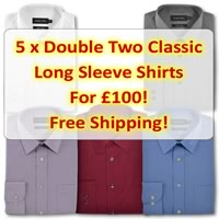 5 Double Two Classic Plain Shirts For £100!