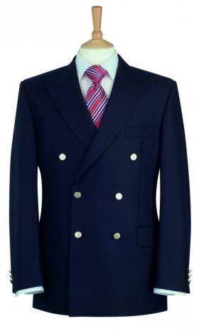 Reigate 100% Wool DB Blazer - Navy