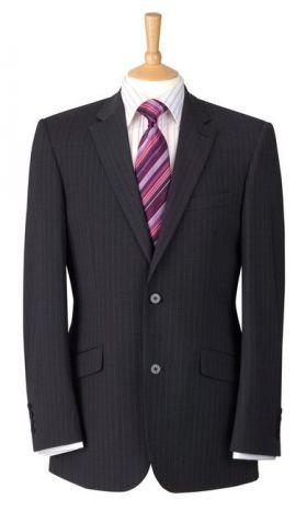 Jacket - Charcoal Pinstripe