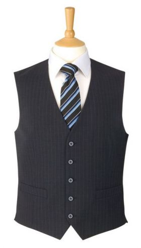 Waistcoat - Charcoal Pinstripe
