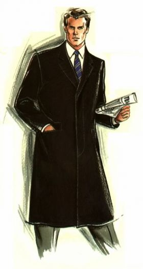 Made To Measure Classic Black Overcoat