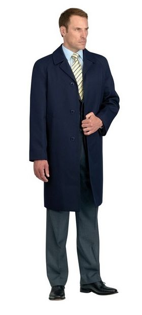 Whipcord Raincoat - Dark Navy